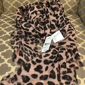NWT Gauzy Leopard Print Scarf